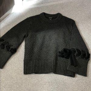 Club Monaco sweater with braided ties on sleeve